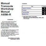 Mazda 6 2002 Transaxle A65M-R Workshop Service Repair Manual